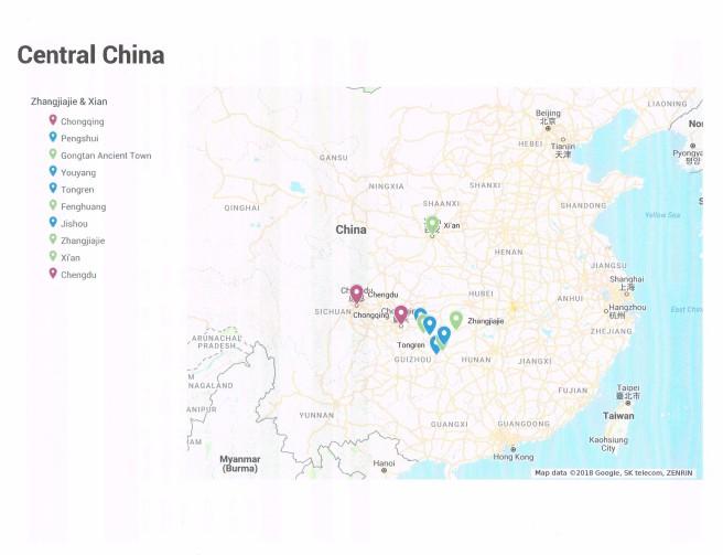 Chongqing Gongtan Fenghung Zhangjiajie Xian 5n 6d In June 2014